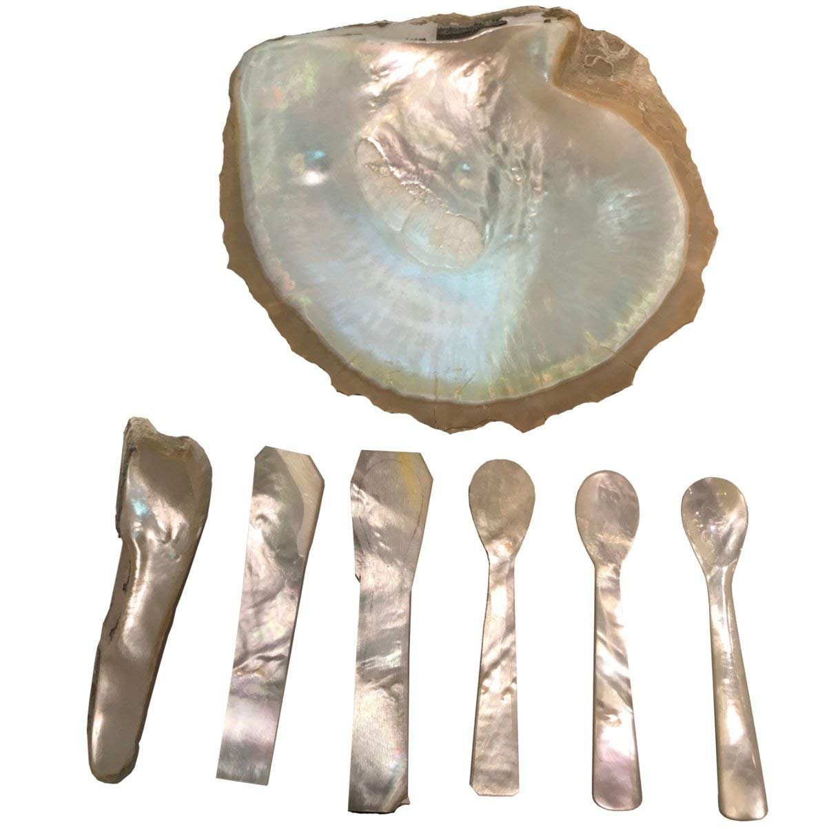 Deluxe Mother of Pearl Caviar Spoon Egg Spoon L 11/Ã/'/Â/cm Set of 2/Ã/'/Â/Mother of Pearl Rectangular//High-Quality//Sturdy Quality by Silberkanne