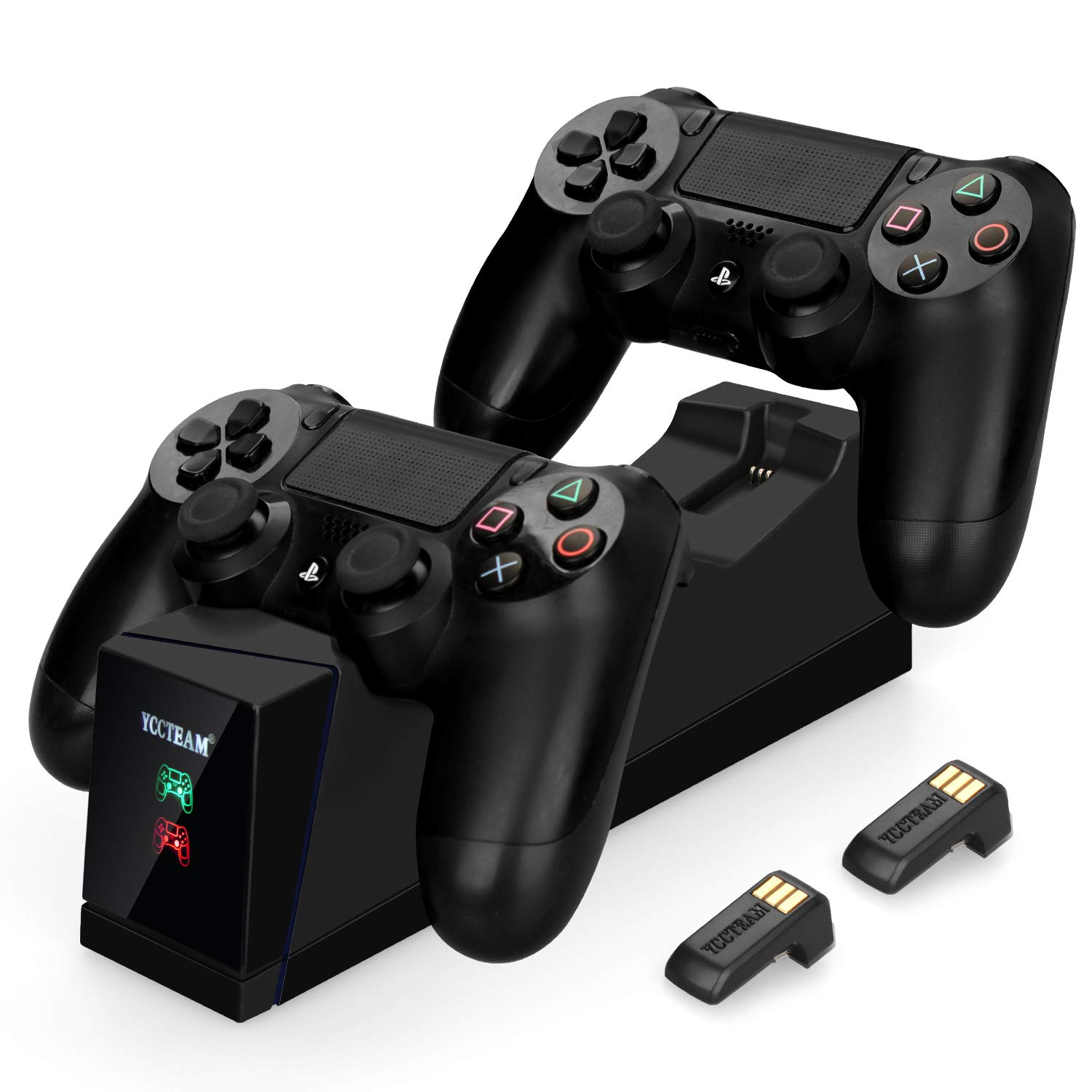 PS4 Controller Charger,Dualshock 4 Dual USB Fast Charging Docking Station Stand for Sony Playstation 4 PS4,PS4 Pro,PS4 Slim Controller,Black