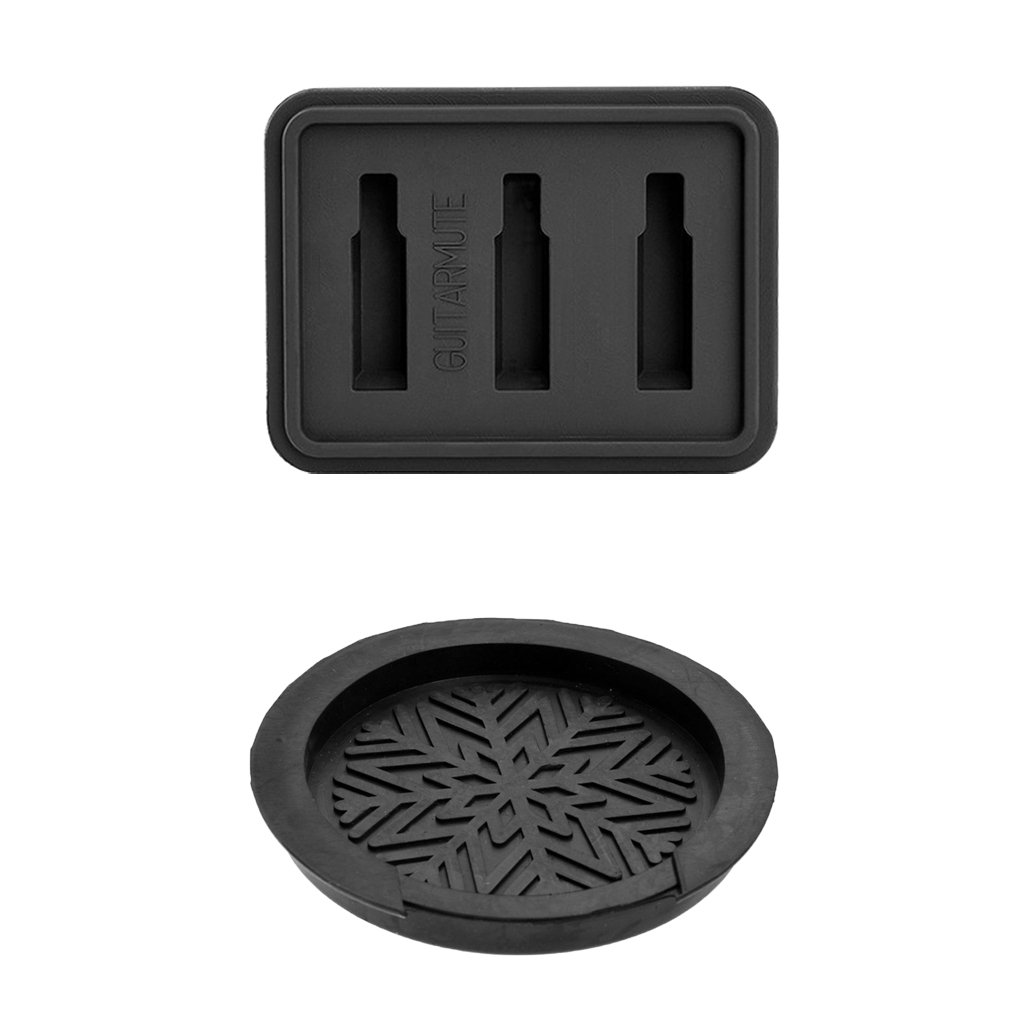 Baoblaze Guitar Soundhole Cover Feedback Control Mute Silencer Sordine Black for 41'' 42'' Acoustic Guitars