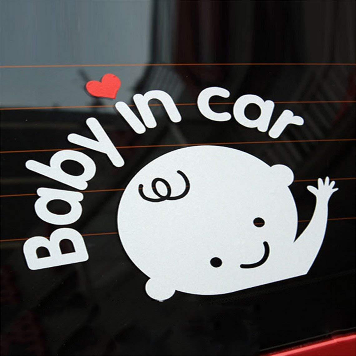 Momorain Creative 17 14 cm B/éb/é /à bord de b/éb/é en voiture autocollant de voiture imperm/éable r/éfl/échissant d/écalque de voiture sur le pare-brise arri/ère