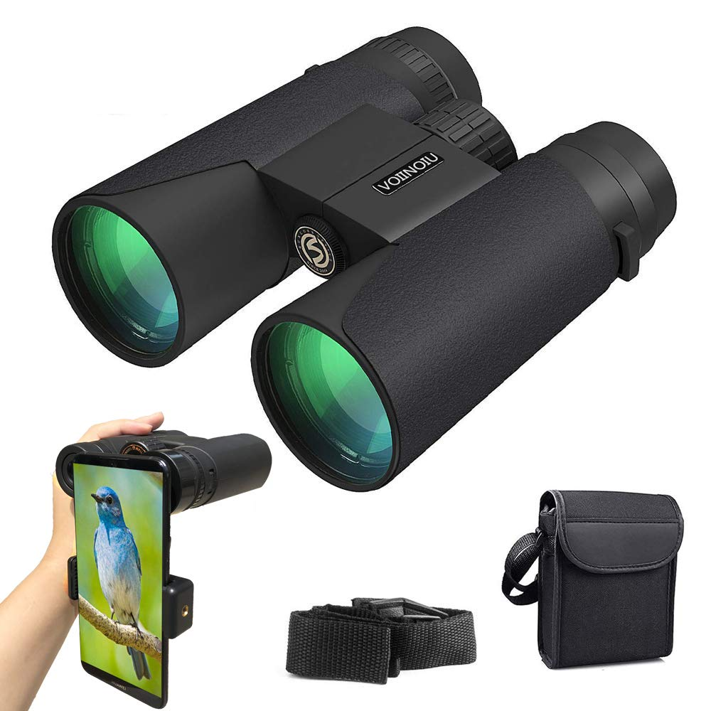 Binoculars for Adults Compact,12x42 HD Roof Prism Waterproof Binocular with Weak Light Night Vision,Folding Spotting Binoculars for Bird Watching,Concerts,Camping Hunting,Outdoor Sports,Explore Nature
