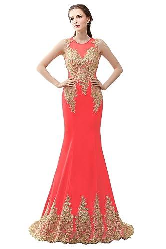 JinXuanYa Women's Rhinestone Mermaid Evening Dresses Long Formal Party Gowns