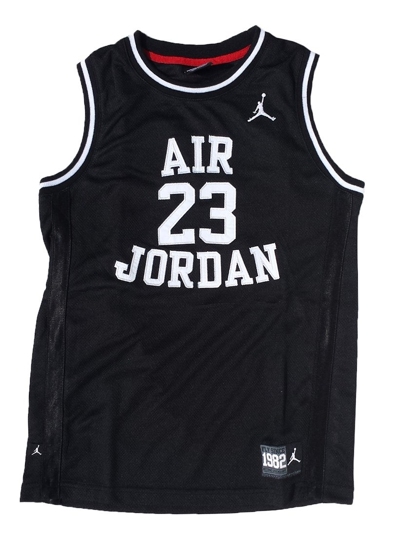 e6686f6ba7af Amazon.com   Nike Air Jordan Boys Classic Jersey Shirt Black Medium 10    Sports   Outdoors