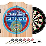 US Coast Guard Design Deluxe Solid Wood Cabinet Complete Dart Set