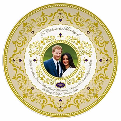 H.R.H. Prince Harry and Meghan Markle Royal Wedding 19th May 2018 Commemorative Fine China 6 Plate