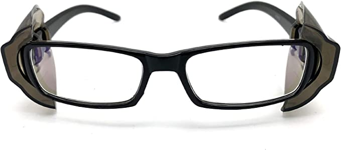 Deep Gray Fits Medium to Large Frame Eyeglasses Glasses Wing Mate Safety Glasses Slip On Clear Side Shields Wanty New Color 2 Pair Universal B26