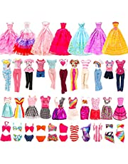 Barwa 16 PCS Doll Clothes 3 PCS Wedding Grown Dresses 5 PCS Fashion Outfits 5 Sets Mini Dresses 3 Sets Bikini Swimsuits for 11.5 Inch Girl Doll