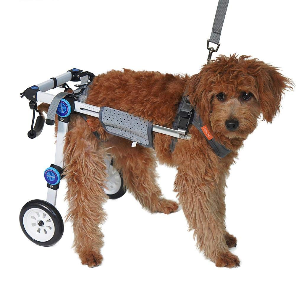 RUNMIND Adjustable Pet Dog Wheelchair for Small Dog Behind Legs Rehabilitation Upgrade Pet Wheelchair Walk Assistant by RUNMIND