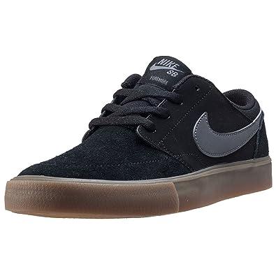 7c1dfaad1ad69d Nike Kids SB Portmore II (GS) Shoes Black Dark Grey Gum Light BROW Size