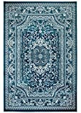 Buy Rugs NEW Summit Elite #62 Blue and White rug Antuque Style Tone on Tone  (22 inch x 35 inch SCATTER RUG DOOR MAT SIZE )