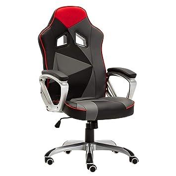 469c5604287ab WOLTU® Racing Chaise de Gaming,Chaise de Bureau Fauteuil de Direction Cuir  Simili siège Ergonomique Hauteur réglable avec mécanisme ...