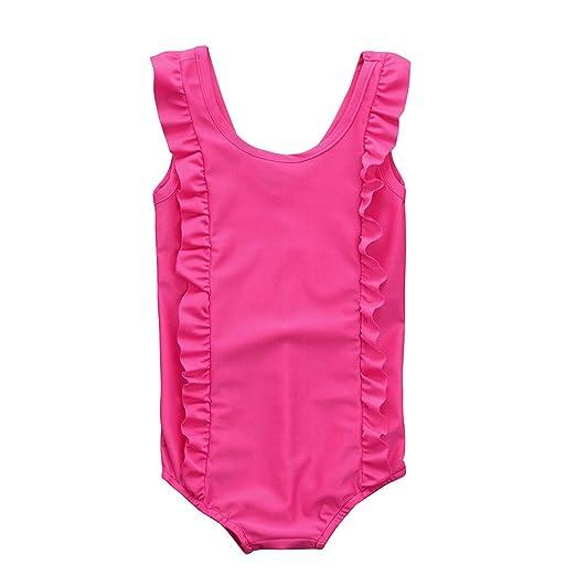 22a8ad3dbc16 Amazon.com  KONFA Teen Baby Girls Ruffles Swimwear Rompers