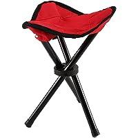 AllRight Portable Outdoor Folding Tripod Stool, Lightweight Camping Hiking Fishing BBQ Gardening Seat Chair