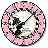 Item C9006 Fifties Retro Pink Poodle 10.5 Inch Wall Clock Review