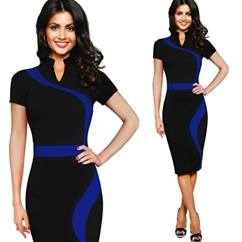 Womail Women Vintage Business Casual Party Pencil Sheath Dress