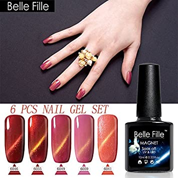 Amazon.com: Belle Fille 10 ml Gel UV Gel Esmalte de Uñas ...
