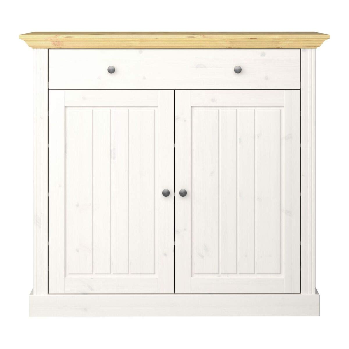 Steens Group Armoire à Chaussures Groupe Monaco pin Massif Blanc 120x110x40 cm, Weiss