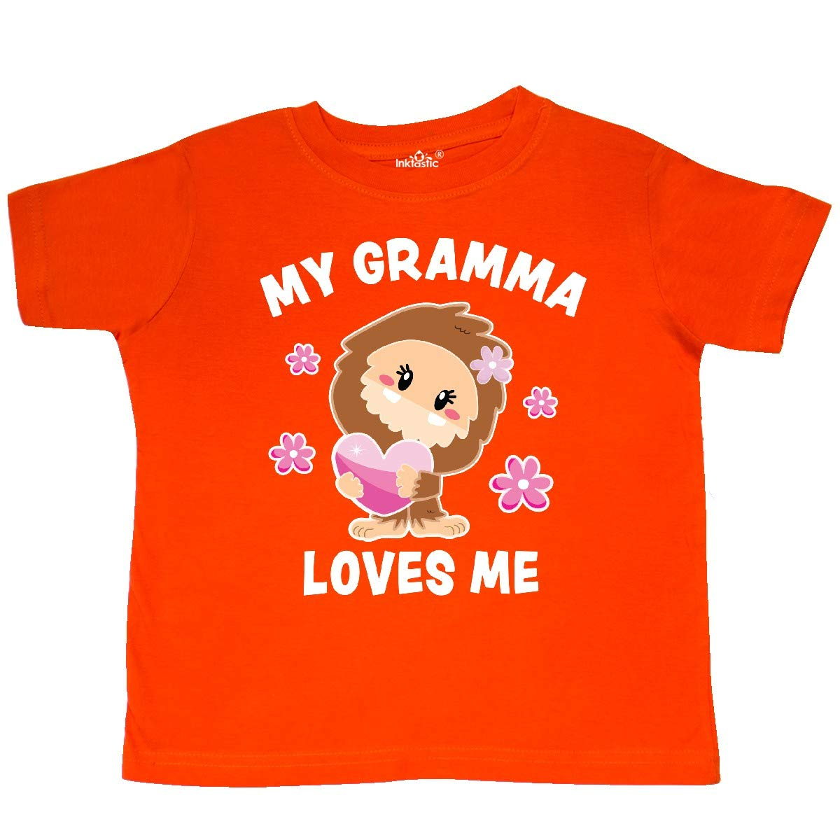 inktastic My Gramma Loves Me with Bigfoot Toddler T-Shirt