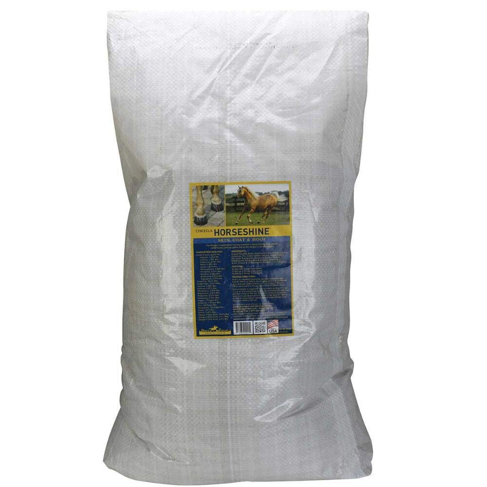 Omega Fields Omega Horseshine Complete, 50 Pounds, Vitamin and Mineral Supplement for Horses