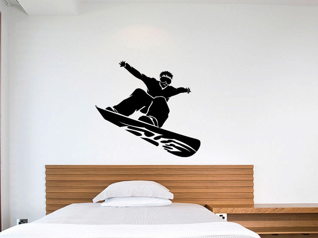 Amazon snowboard vinyl wall art decal sticker for kids rooms amazon snowboard vinyl wall art decal sticker for kids rooms boys bedroom multiple colors available easy to apply removable home kitchen amipublicfo Image collections