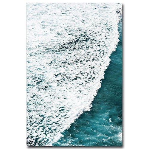 Haihuic Pintura al óleo del Arte de la Pared de la Lona, Impresiones de mar en Lienzo, Obra de Arte Moderna sin Marco para...