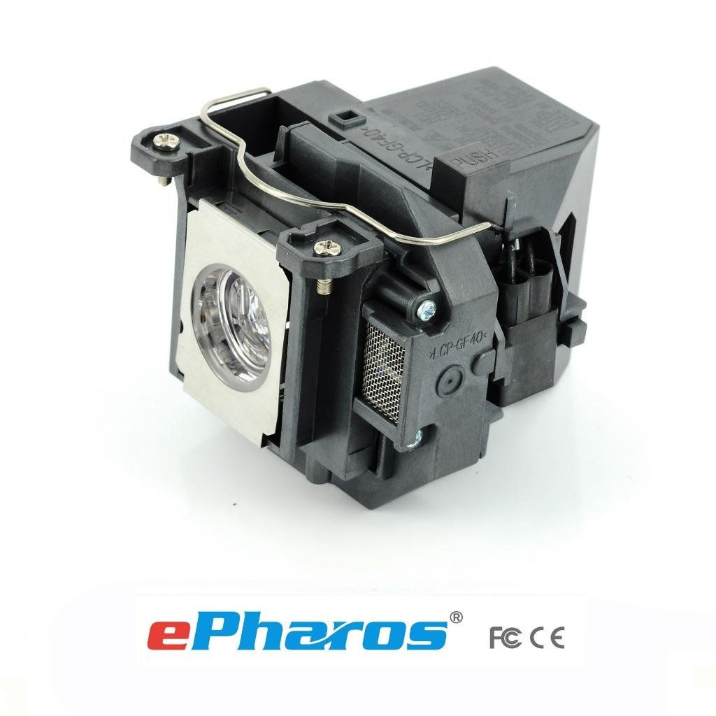 Aurabeam ELPLP57 replacement projector lamp compatible bulb with generic housing for Epson EB-440W, EB-450W, EB-450Wi, EB-460, EB-460i, EB-455Wi, EB-465i