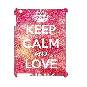 ALICASE Diy Cover Custom Case Love Pink For IPad 2,3,4 [Pattern-1]