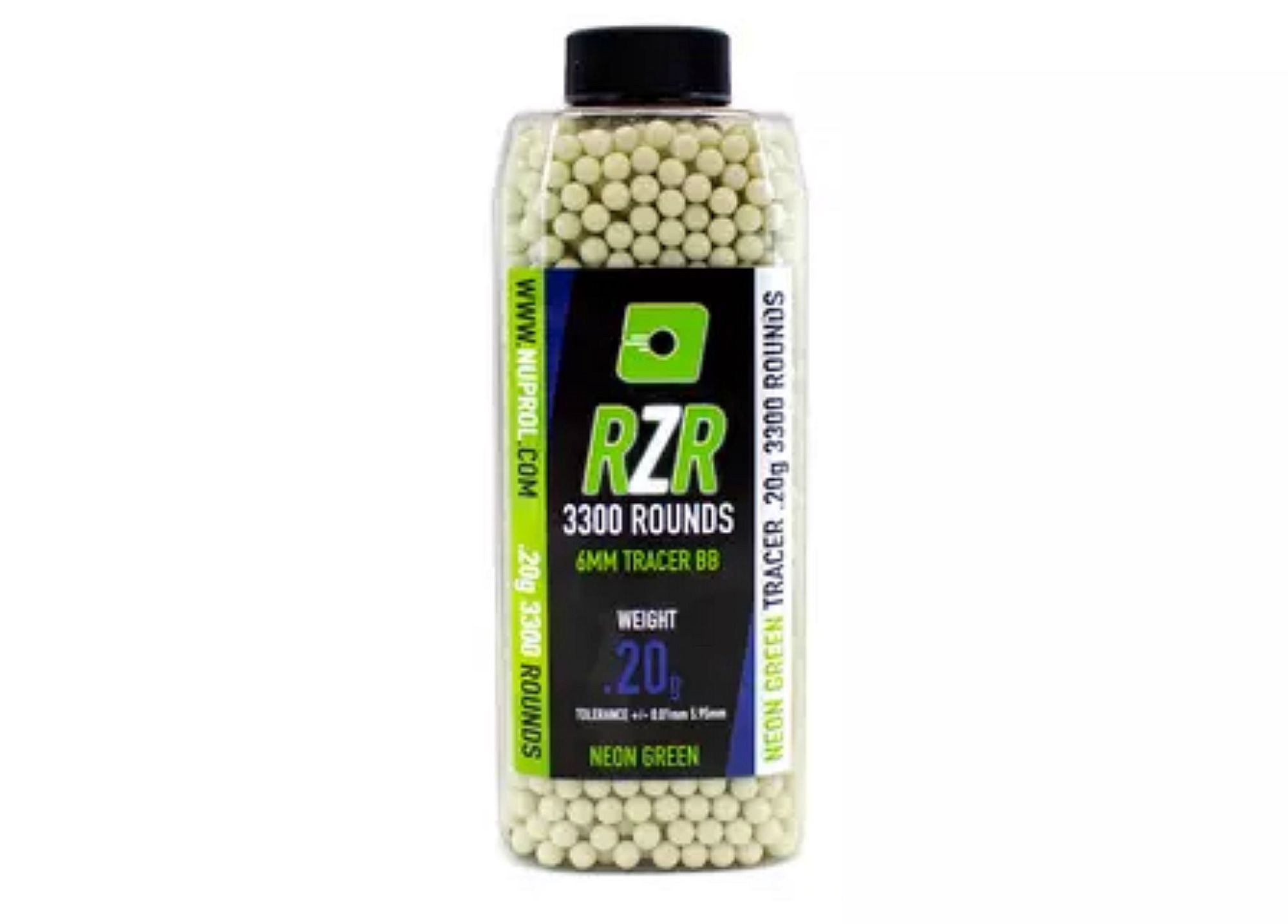 Nuprol RZR .20g 3300rds Green Tracer Rounds