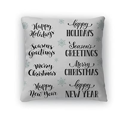 Amazon.com: Gear New Throw Pillow Accent Decor, Happy Holidays ...
