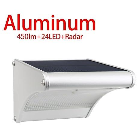 Licwshi 450 lúmenes La luz solar 24 LED de una aleación de aluminio, impermeable al