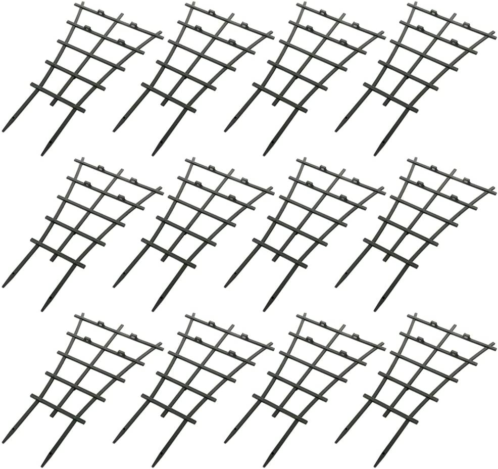 Feitore Garden DIY Mini Climbing Trellis, 12Pcs Plastic Superimposed Potted Plant Support Garden Trellises for Potted Climbing Plants Vines