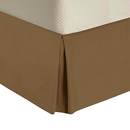 """100/% Egyptian Cotton 300TC Split-Corners Solid Bed Skirt 15/"""" Drop Bed Ruffle"""