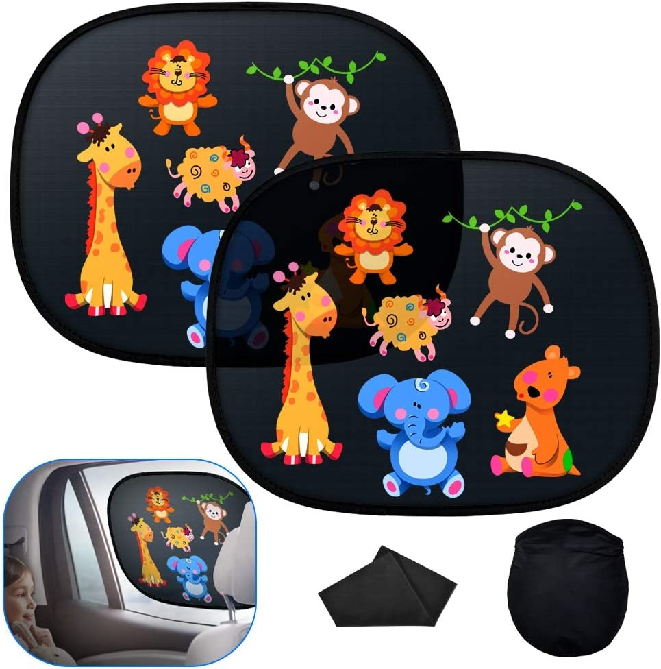 F/ür Urlaub baby 1st Autofenster-Sonnenschutz Universal-Sonnenschutz f/ür Kinder /& Kleinkinder 2er-Pack Atmungsaktive Auto-Sonnenblende mit UV-Schutz Inklusive Baby On Board-Aufkleber