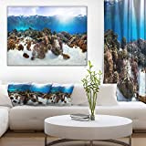 Design Art Indonesia Underwater Panorama Photography Canvas Art Print