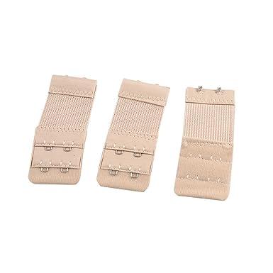 1892d42897 Clest F H Bra Extender 3pcs 2 x 2 Positions Hooks Ladies Bra Extension  Strap Underwear Strapless