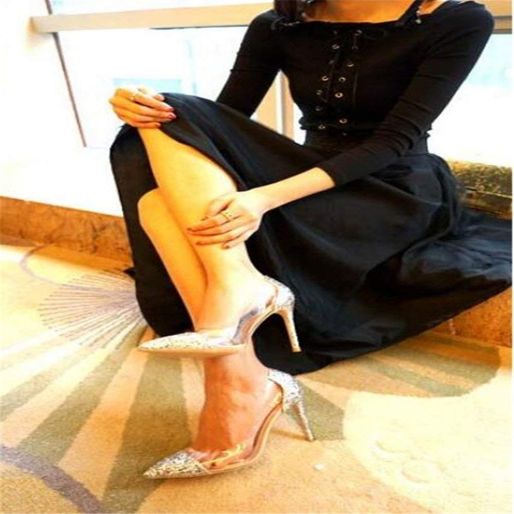 Gericht Schuhe Tipps gut mit High Heels weiblich war war war dünn Gold Silber Wilde Flut Zeigen Schuhe Frauen Hochzeitsschuhe (Farbe   37, Größe   Camel 8CM) ade4ad