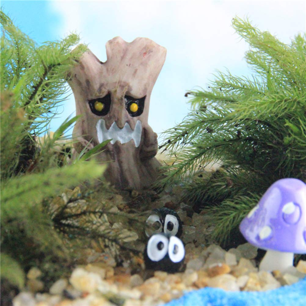 3 piezas Amosfun Fantasmas de Halloween Miniatura Micro Bons/ái Jard/ín de hadas Paisaje Adornos de escritorio