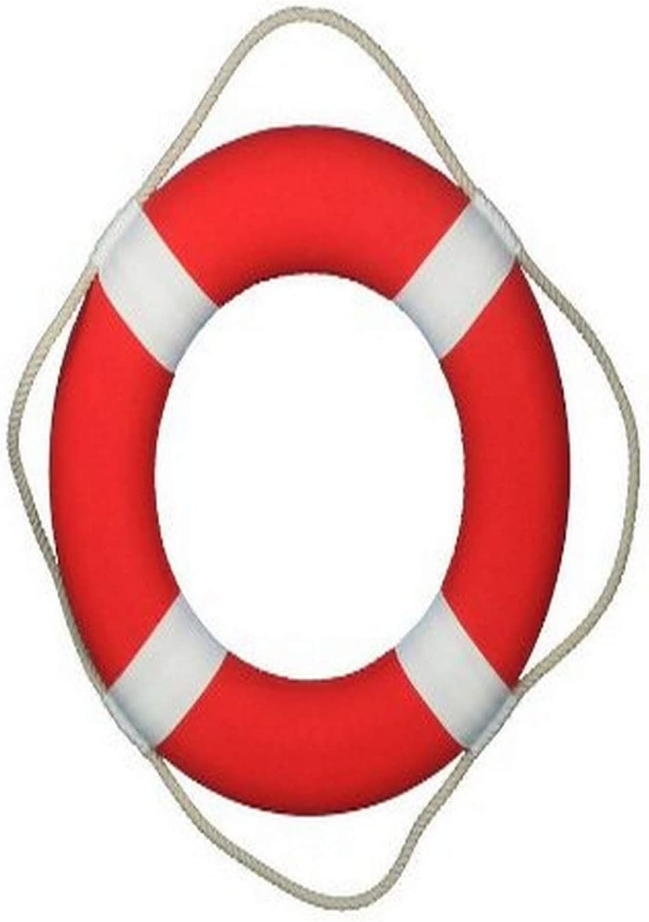 """Hampton Nautical Vibrant Red Lifering with White Bands, 20"""""""