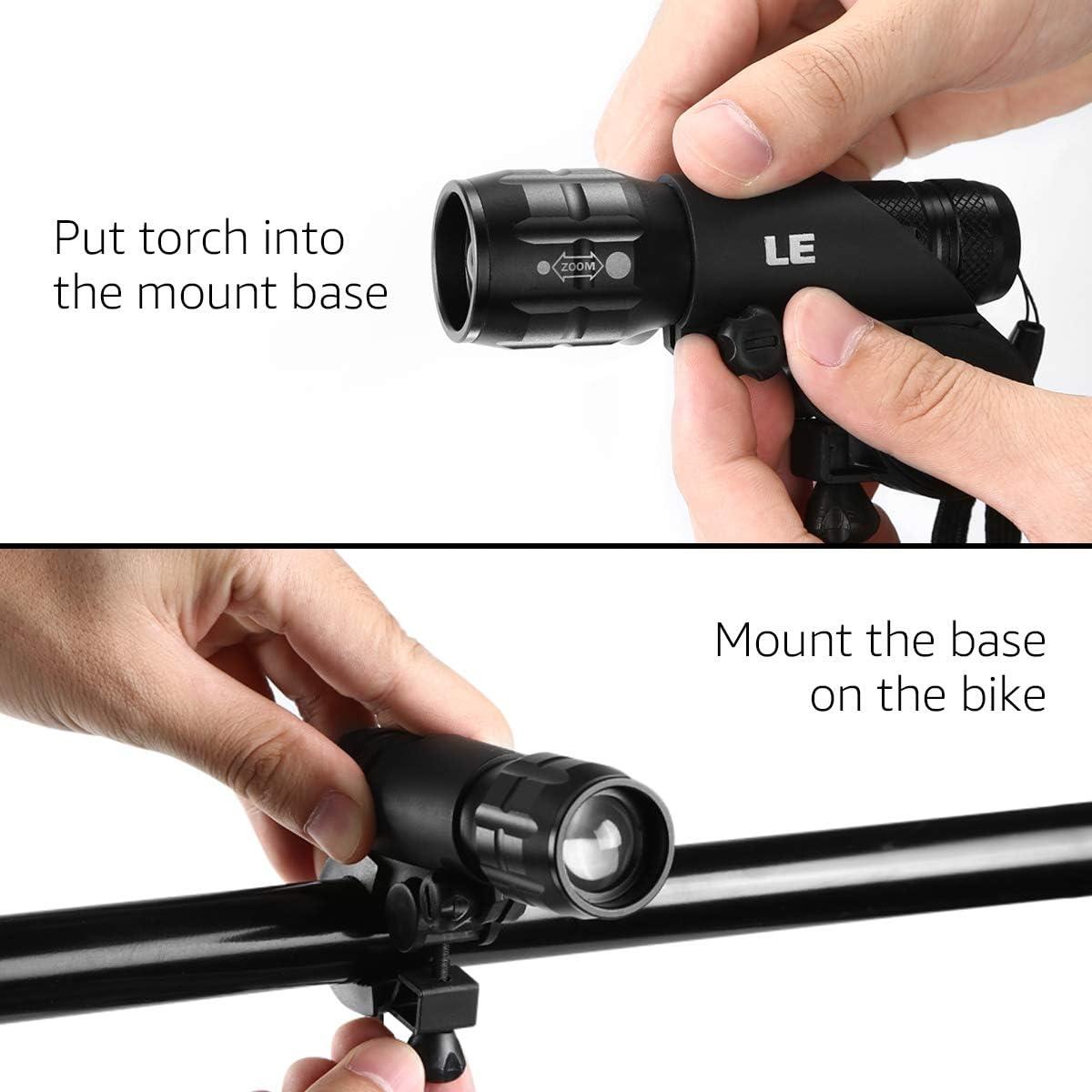 Zoom puissant FOCUS AVANT ET Feux arrière Set-Lumière DEL Rouge Torche Vélo