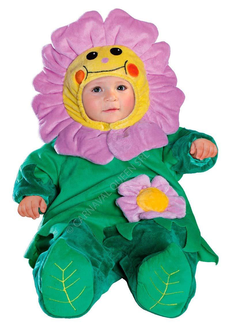 Costume maschera carnevale FIORELLINO 3 - 6 mesi (misura spalla-terra 55 cm) SACCOTTO