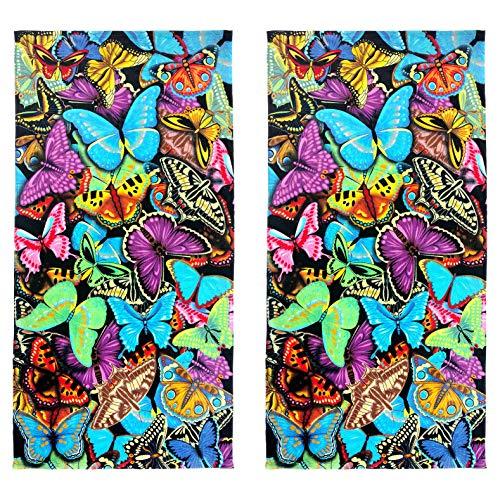 Kaufman Sales -Butterflies Beach Towel (105049) - 2 Pack Set