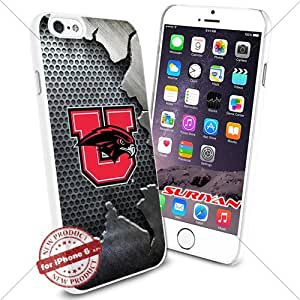 New iPhone 6 Case Utah Utes Logo NCAA #1656 White Smartphone Case Cover Collector TPU Rubber [Iron]