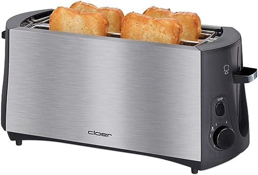 Cloer Toaster 3719 edelstahl//schwarz