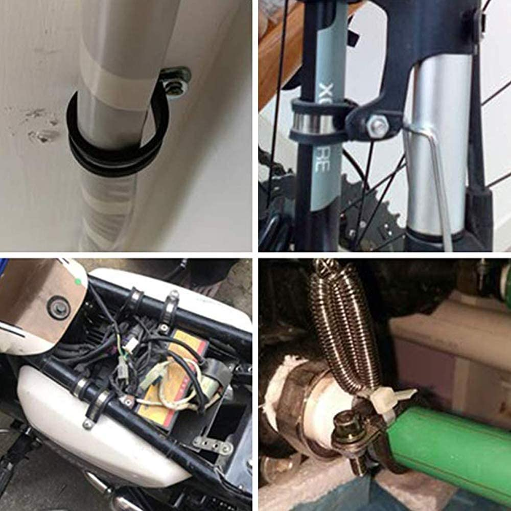 10 * 30mm fascetta stringitubo morsetto in gomma per cavo elettrico automotive tubo interno Fascette stringitubo Gomma In acciaio inox 10 * 15mm morsetto in gomma tipo P