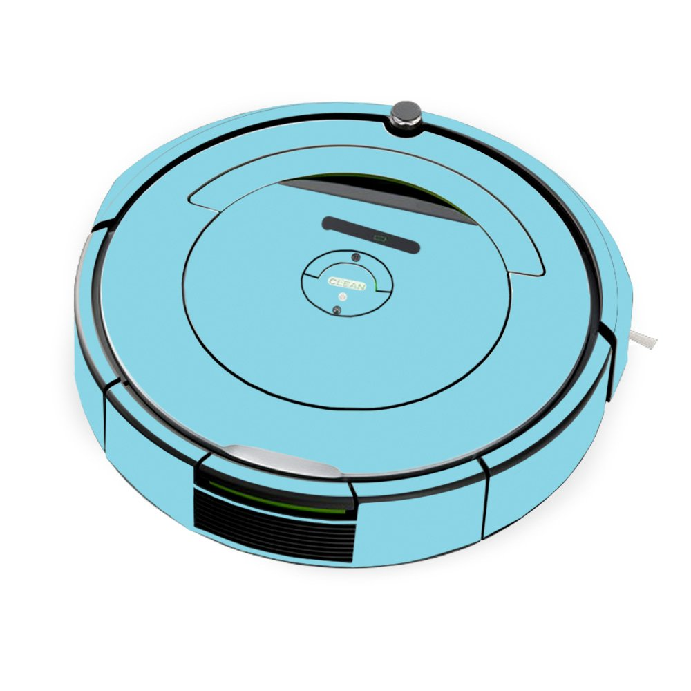 MightySkins Skin for iRobot Roomba 690 Robot Vacuum - Solid Baby Blue | Protective, Durable, and Unique Vinyl Decal wrap Cover | Easy to Apply, Remove, and Change Styles | Made in The USA