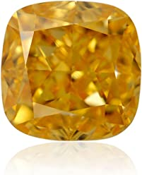 0.42 Carat Fancy Intense Yellowish Orange Loose Diamond Natural Color GIA
