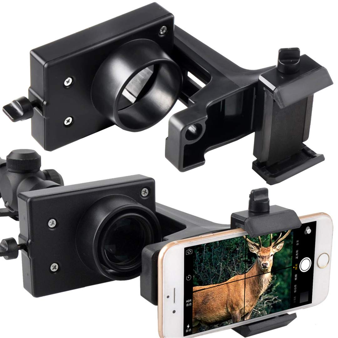 Gosky Rifle Scope Smartphone Mount Adapter for Semi Auto Rifle Scopes and Action Bolt Riflescopes - Smart Phone Mount - Record Hunt in The Screen by Gosky