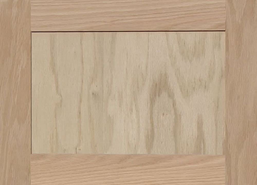 13H x 18W Unfinished Oak Square Flat Panel Cabinet Door by Kendor