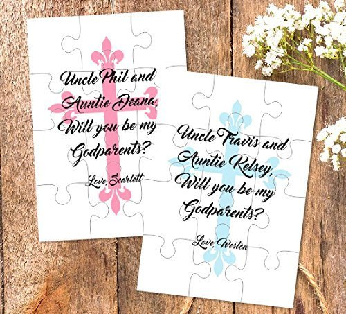 Amazon godparents proposal will you be my godparents gift godparents proposal will you be my godparents gift godmother godfather puzzle negle Image collections