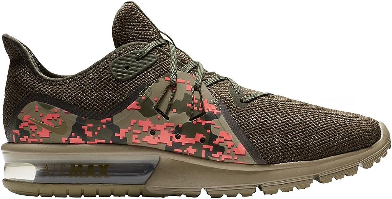 Nike Air MAX Sequent 3 C, Zapatillas de Running para Hombre, Multicolor (Neutral Olive/Neutra 201), 43 EU: Amazon.es: Zapatos y complementos